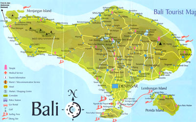 indonesia map with bali