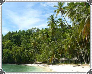 Beach at Kadidiri Togian Islands, Sulawesi