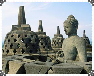 Borobudur Stupa in Java