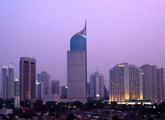 Jakarta City in Indonesia