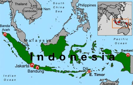 Location of Indonesia Indonesia Geographic Location Location Map